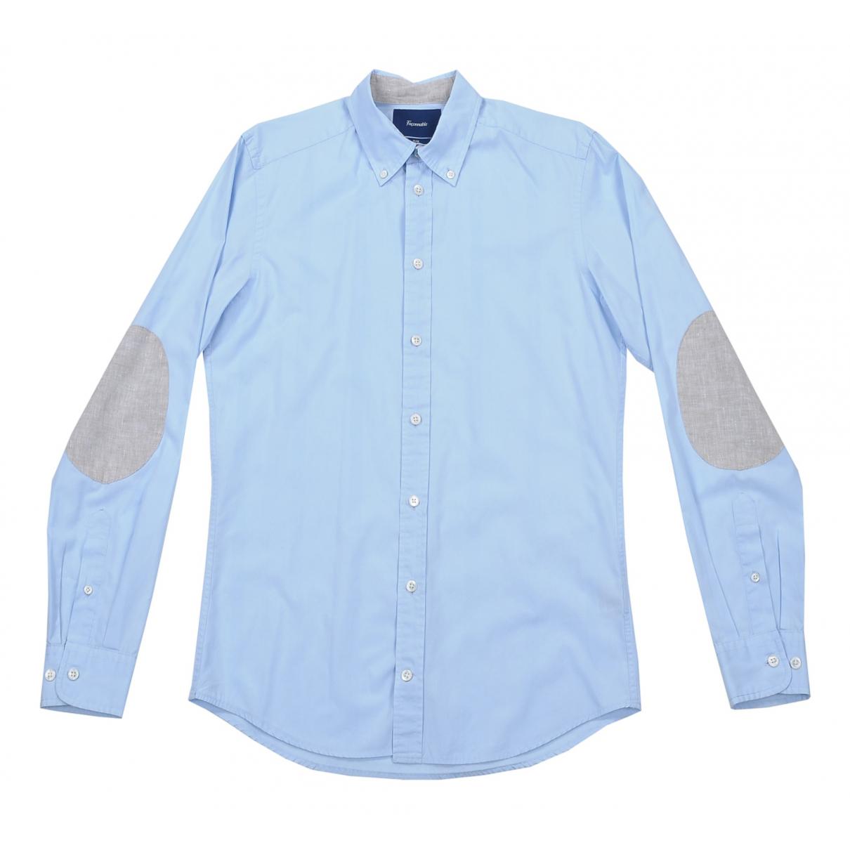 Faconnable - Chemises   pour homme en coton - bleu