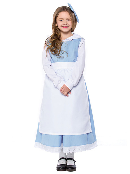 Milanoo Wonder Princess Maid Costume Halloween Kids Dresses Outfit