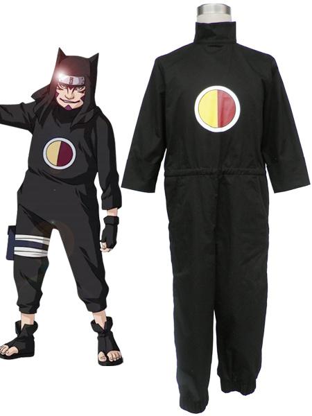Milanoo Halloween Traje negro de Kankurō para cosplay de Naruto Shippuden