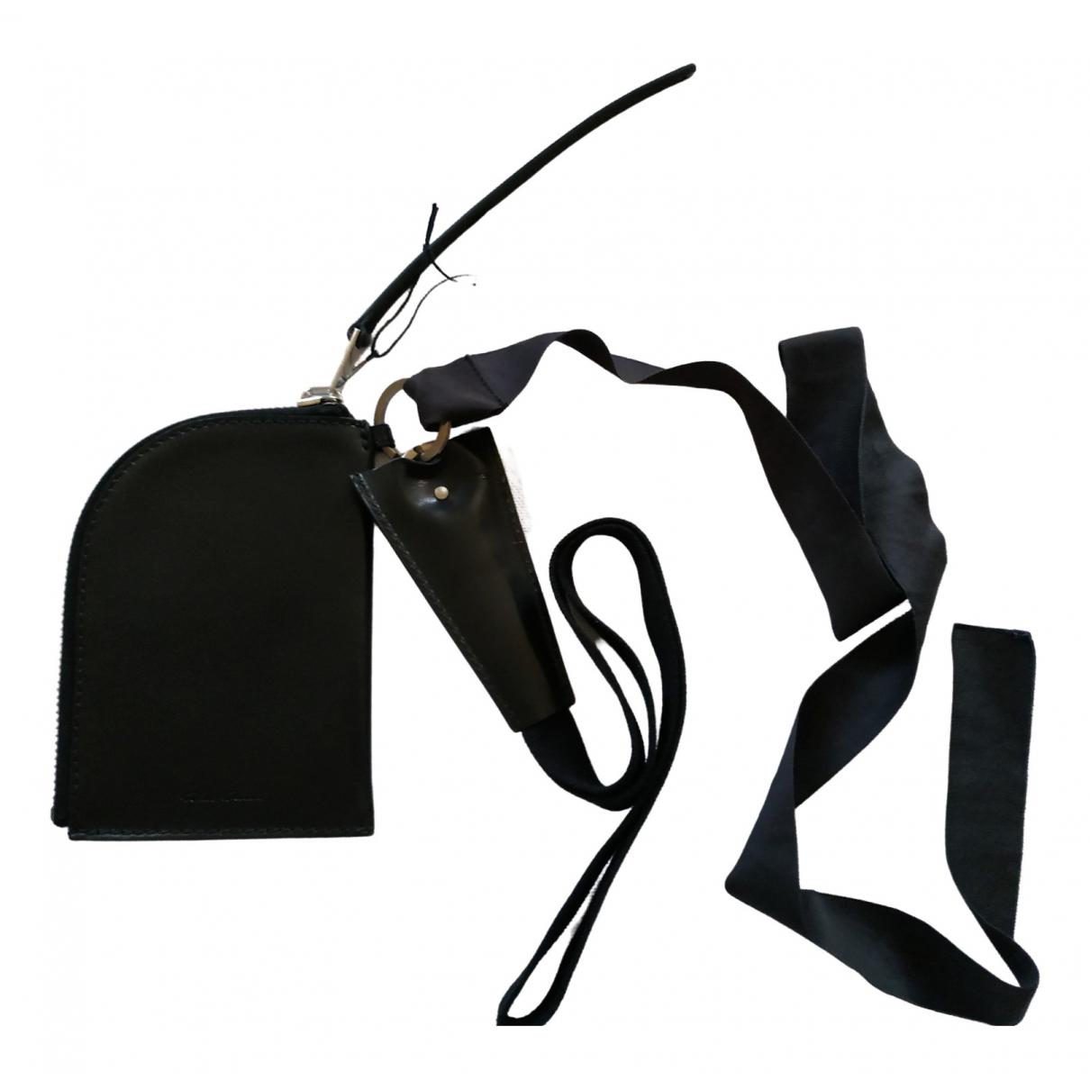 Rick Owens \N Black Leather wallet for Women \N