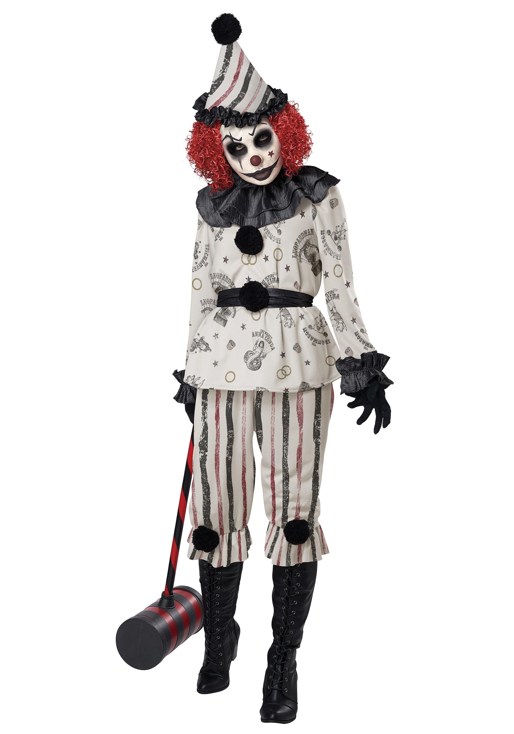 Creeper Clown Adult Costume