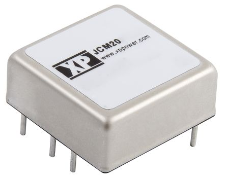 XP Power JCM 20W Isolated DC-DC Converter Through Hole, Voltage in 9 → 18 V dc, Voltage out ±12V dc