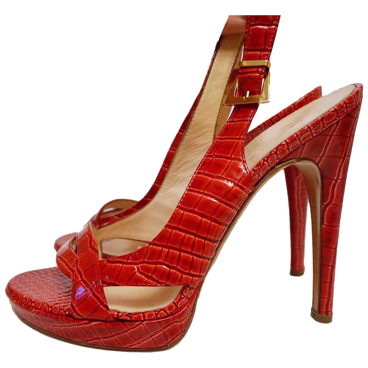 Casadei \N Sandalen in  Rot Lackleder