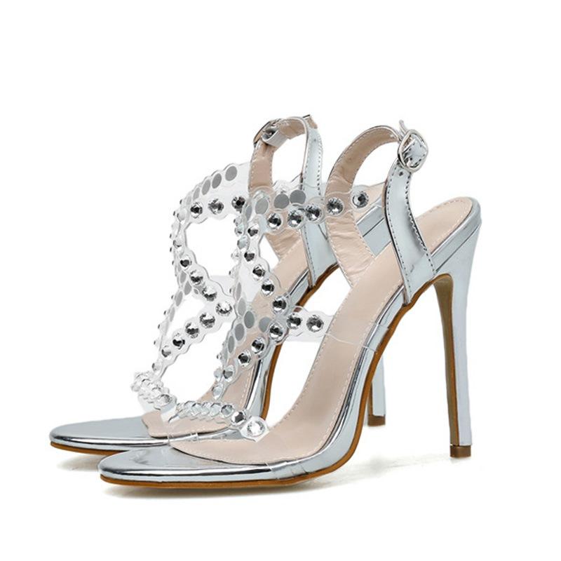 Ericdress Buckle Open Toe Stiletto Heel Thread Sandals