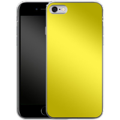 Apple iPhone 6s Silikon Handyhuelle - Test Yellow von caseable Designs