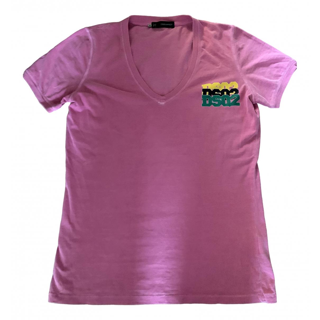 Dsquared2 - Tee shirts   pour homme en coton - rose