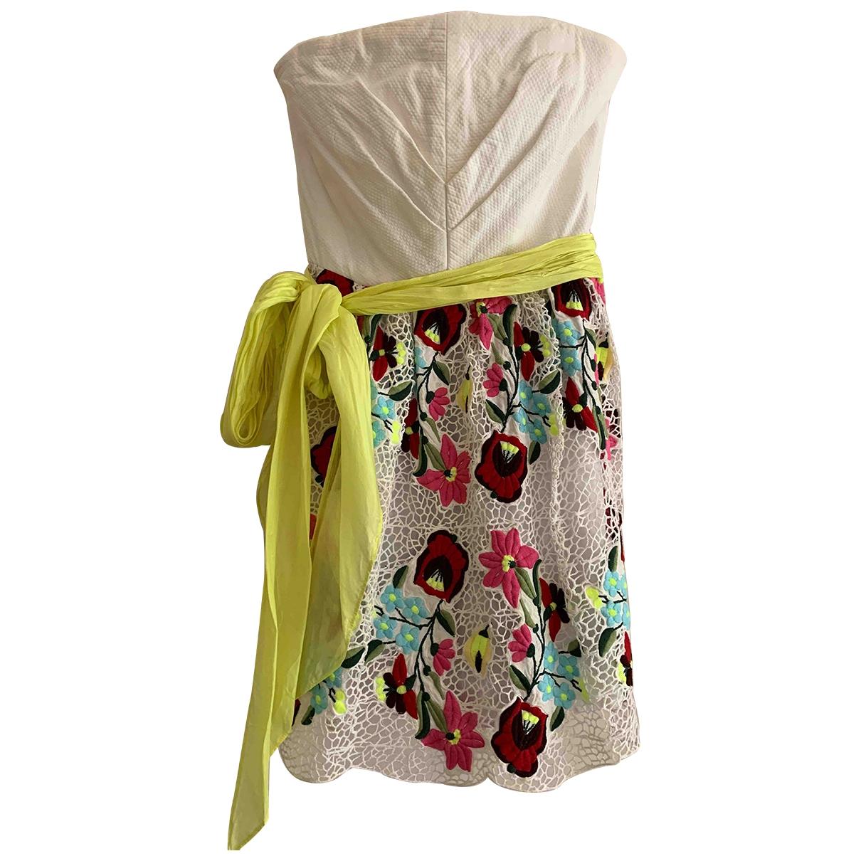 Manoush - Robe   pour femme en coton - blanc