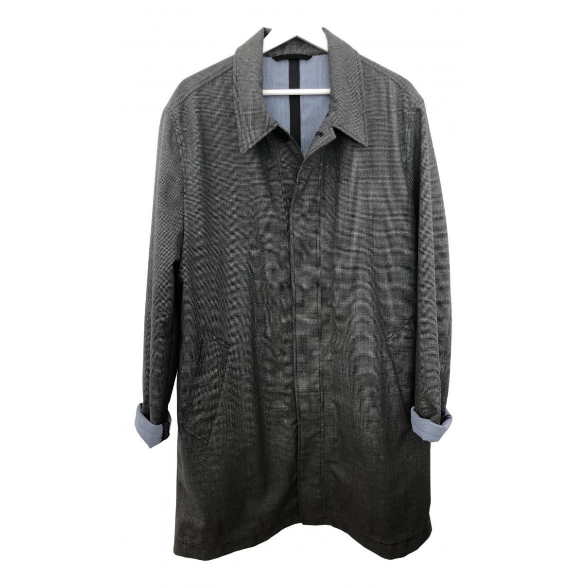 Ami - Manteau   pour homme en laine - gris