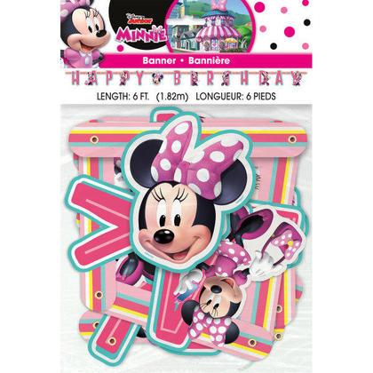 Minnie Mouse 1 Large Jointed Banner Pour la fête d'anniversaire
