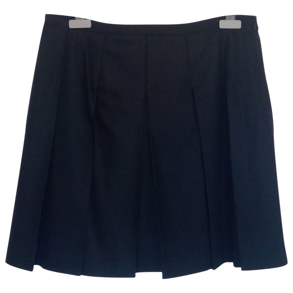 Burberry N Black Wool skirt for Women 42 IT