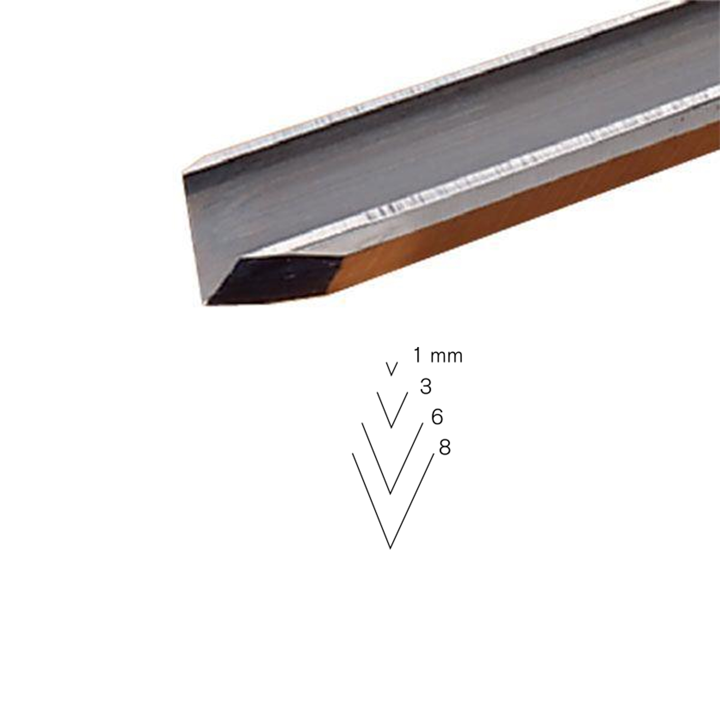 #15 Sweep V-Parting Tool, 3 mm, Full Size