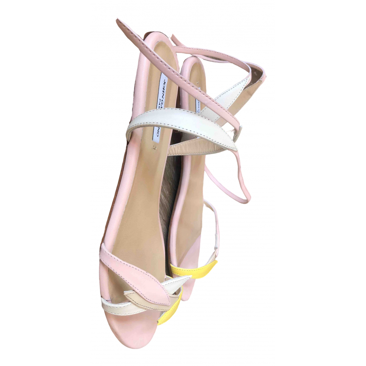 Galliano \N Beige Leather Sandals for Women 38 EU