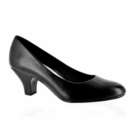 Easy Street Womens Fabulous Pumps Cone Heel, 9 Medium, Black