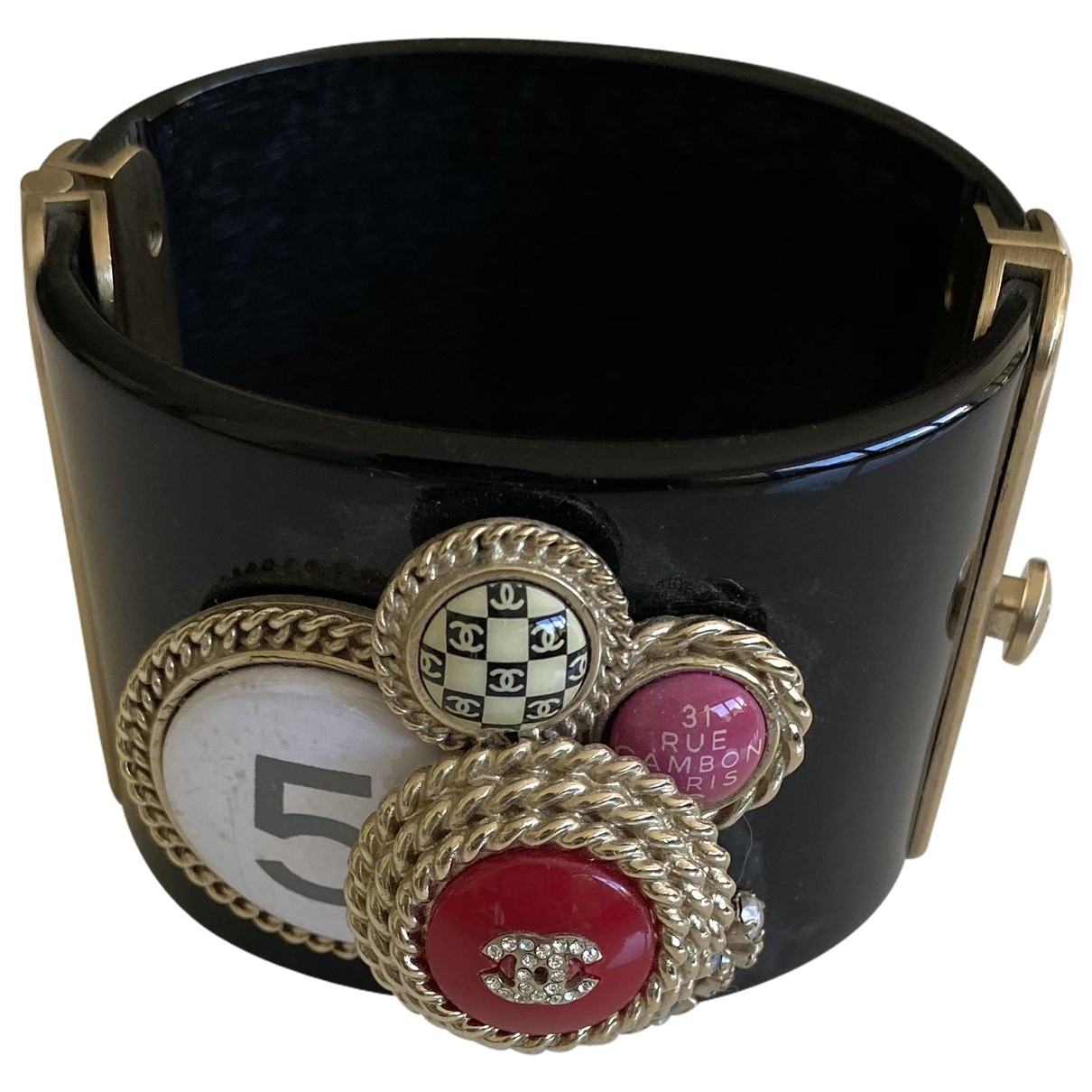 Chanel \N Armband in  Schwarz Kunststoff