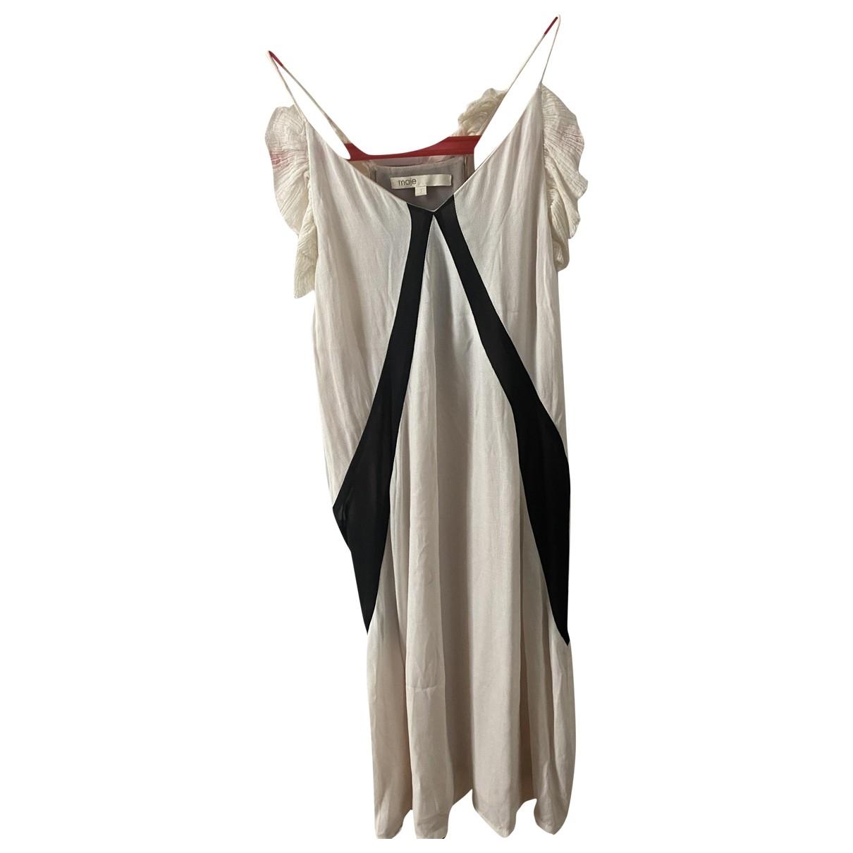 Maje \N White Cotton dress for Women 36 FR