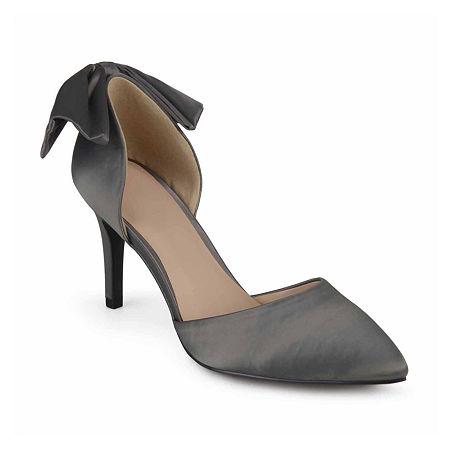 Journee Collection Womens Tanzi Pumps Stiletto Heel, 8 Medium, Silver