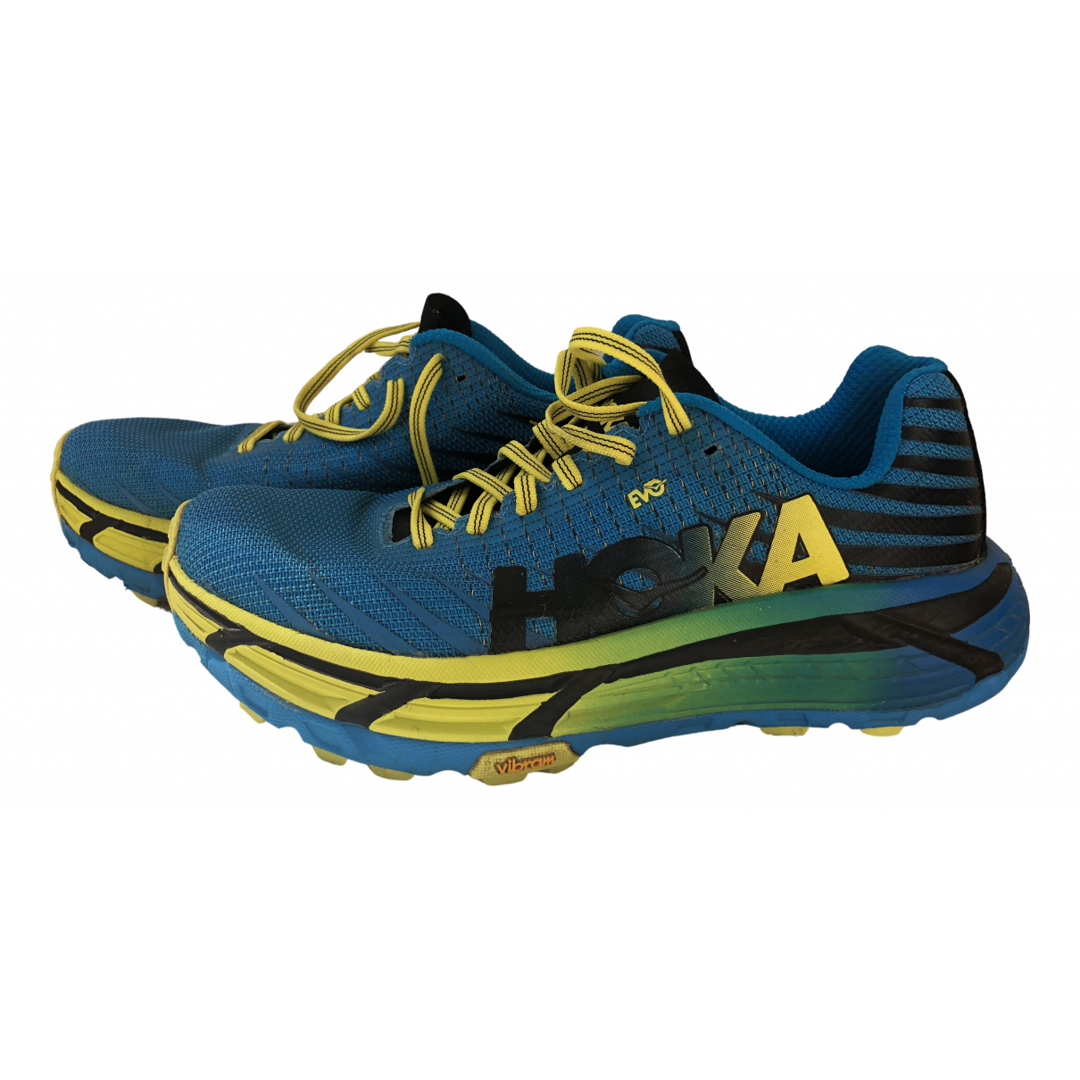 Hoka One One \N Sneakers in  Blau Leinen