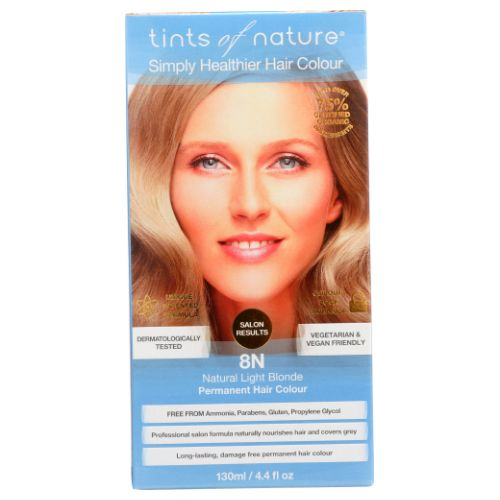 Permanent Hair Color 8N Natural Light Blonder 4.4 Oz by Tints of Nature