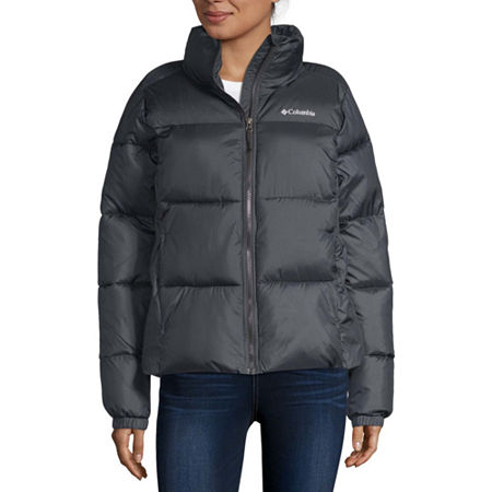 Columbia Puffect Puffer Water Resistant Heavyweight Ski Jacket, Small , Black