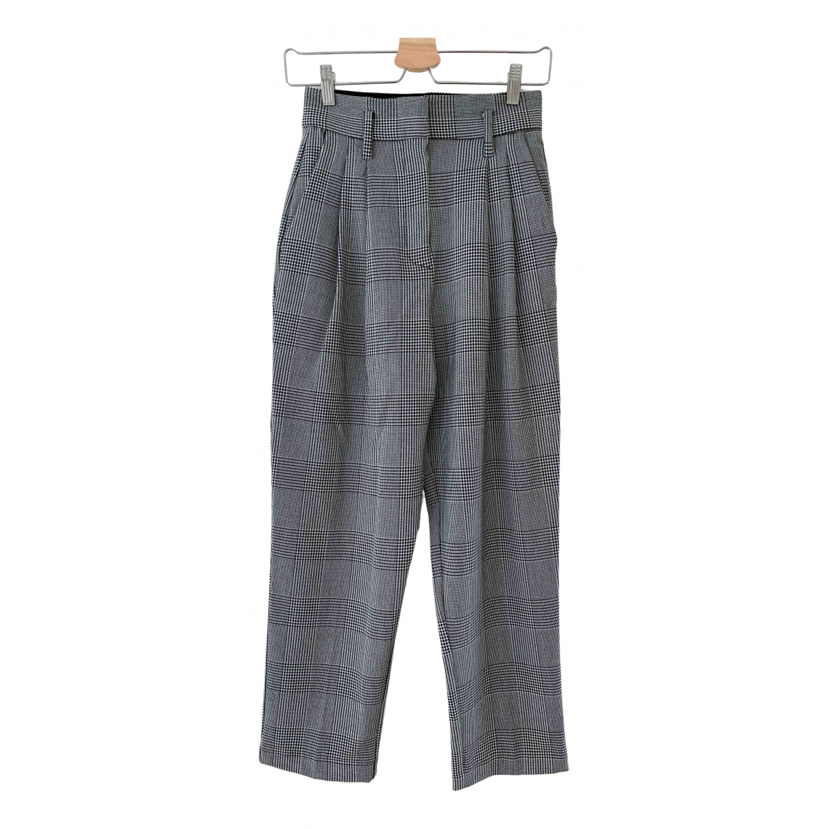 Non Signé / Unsigned \N Black Trousers for Women 34 FR