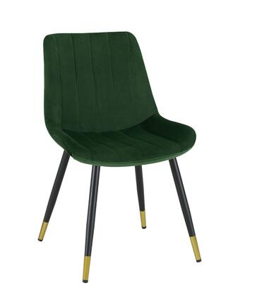 Enzo Collection EN9000-GR Accent Chair with Foam Filled Cushion  Powder Coated Gold Accent Metal Tapered Legs  Wood Frame Construction and Velvet