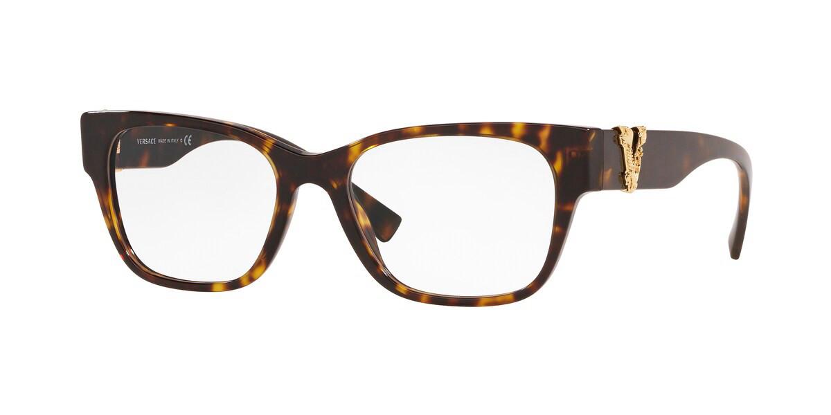 Versace VE3283A Asian Fit 108 Women's Glasses Tortoise Size 54 - Free Lenses - HSA/FSA Insurance - Blue Light Block Available