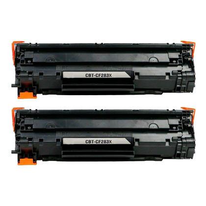 compatible HP 83X CF283X cartouche de toner noire - boite economique - 2/paquet