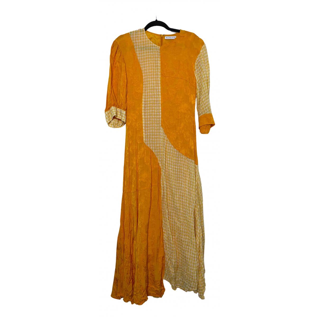 Rejina Pyo - Robe   pour femme en lin - jaune