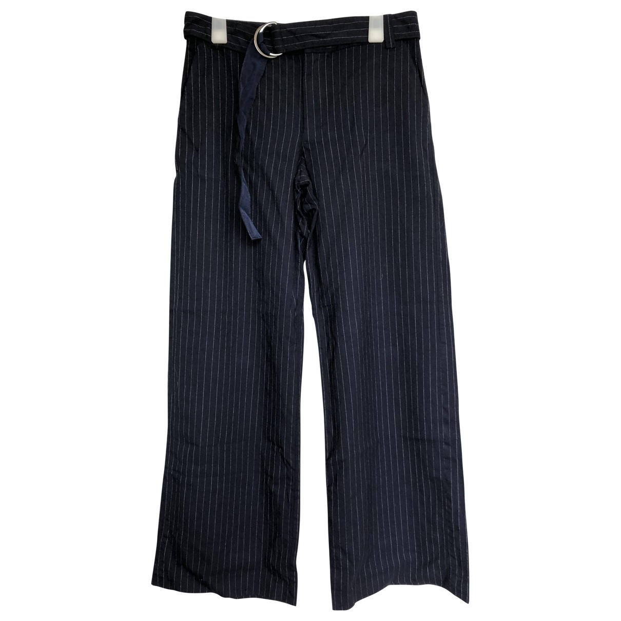 Lanvin \N Navy Trousers for Women 36 FR