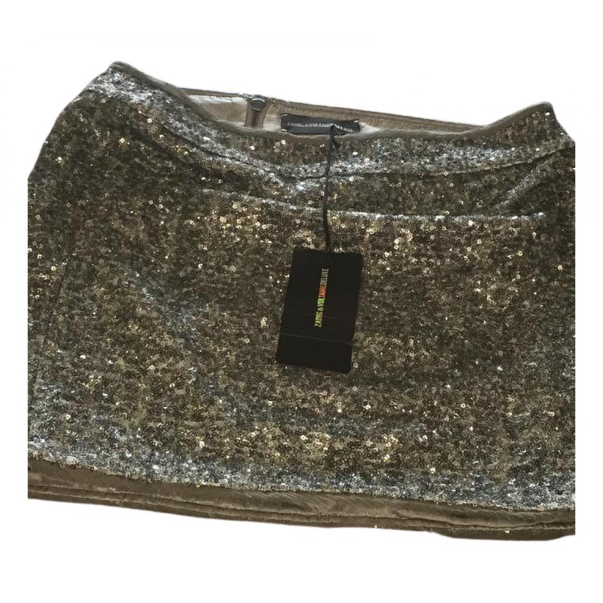 Mini falda de Con lentejuelas Zadig & Voltaire