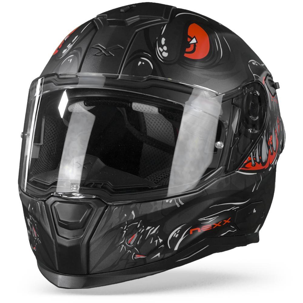 Nexx SX.100R Abisal Casco Integral Mate Negro Rojo XL