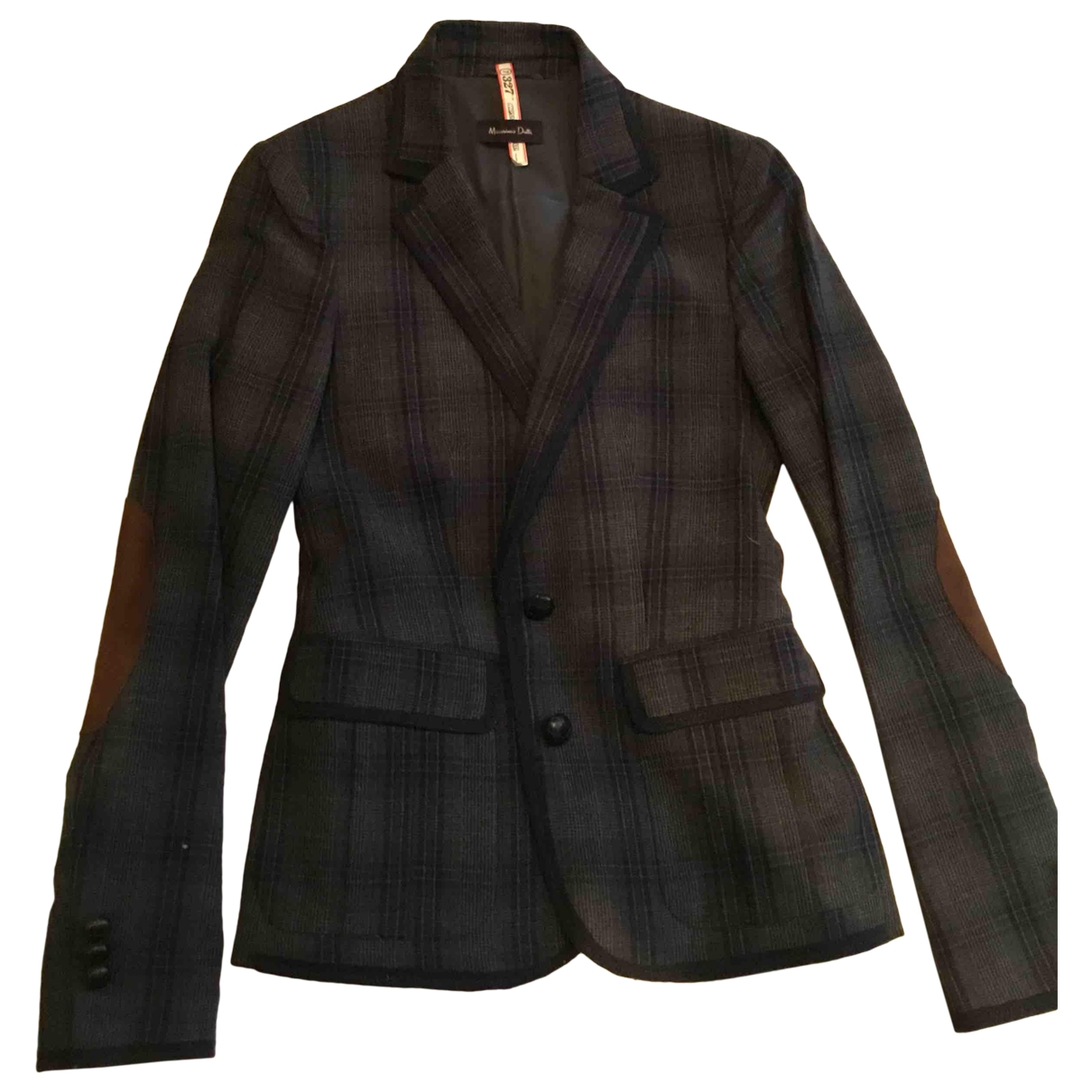 Massimo Dutti \N Grey Wool jacket for Women 38 IT