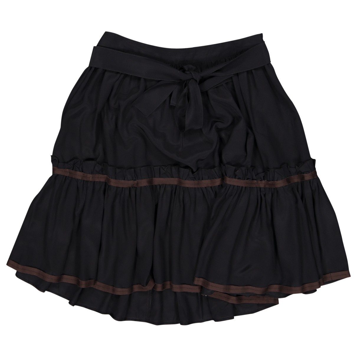 Miu Miu \N Black Silk skirt for Women 40 IT