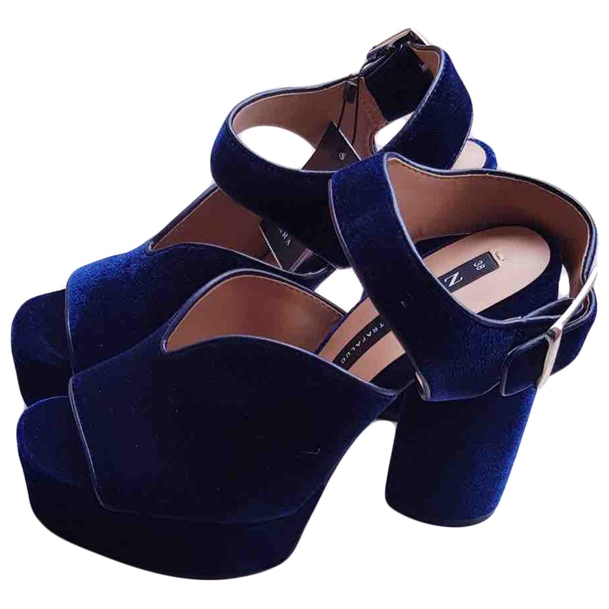 Sandalias de Terciopelo Zara