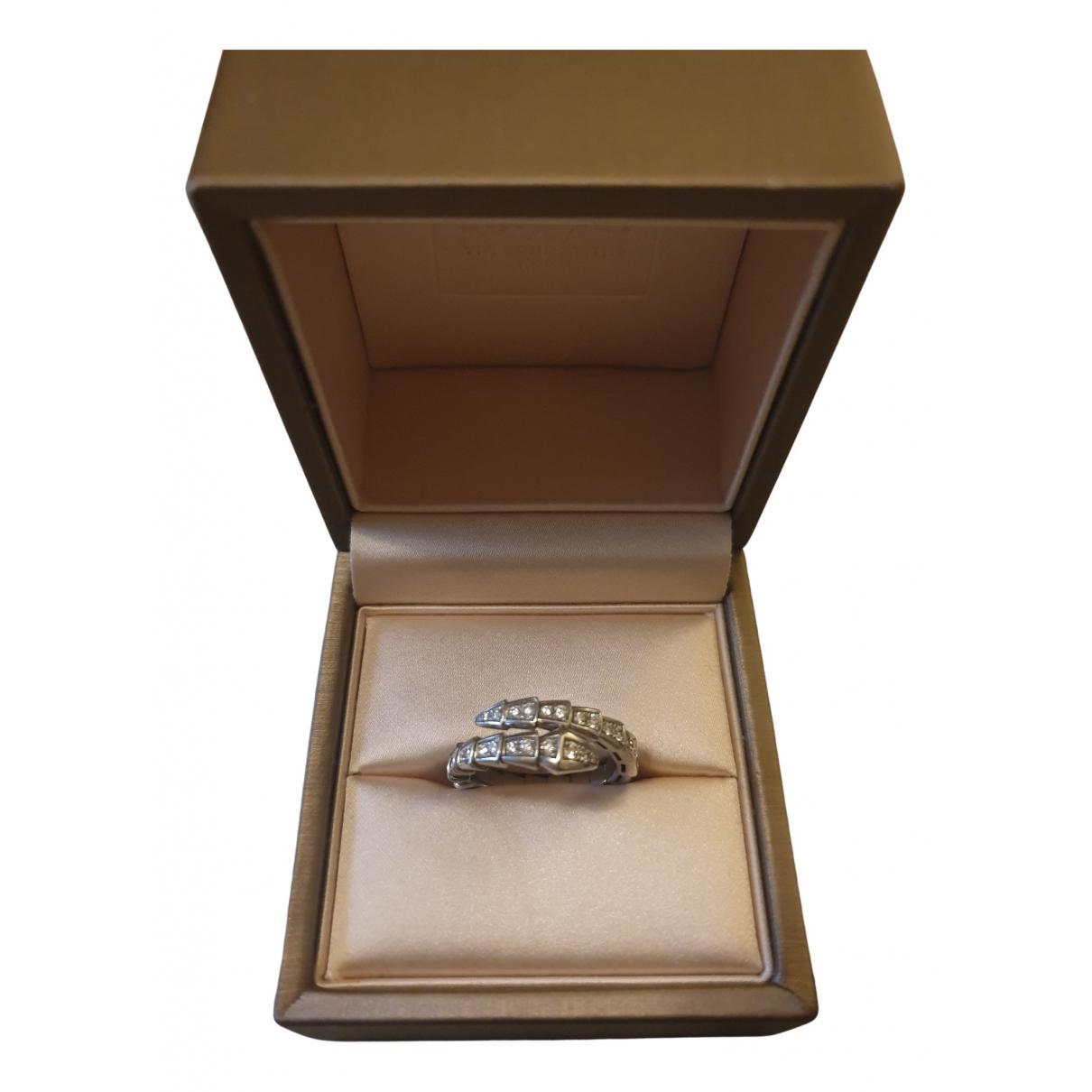Bvlgari Serpenti Ring in  Weiss Weissgold