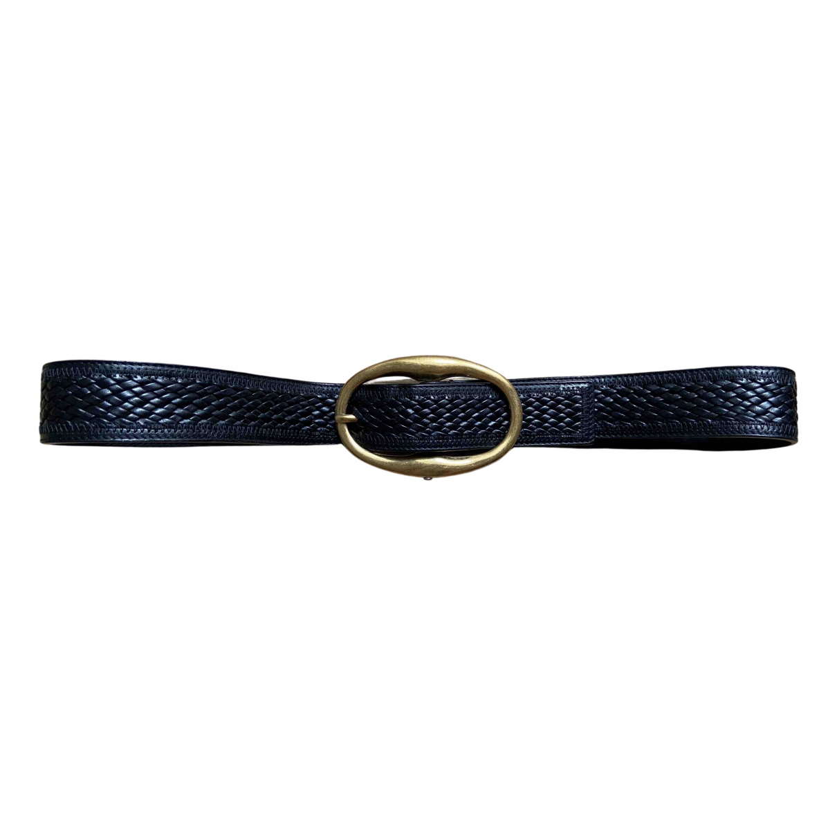 Yves Saint Laurent N Black Leather belt for Men 90 cm