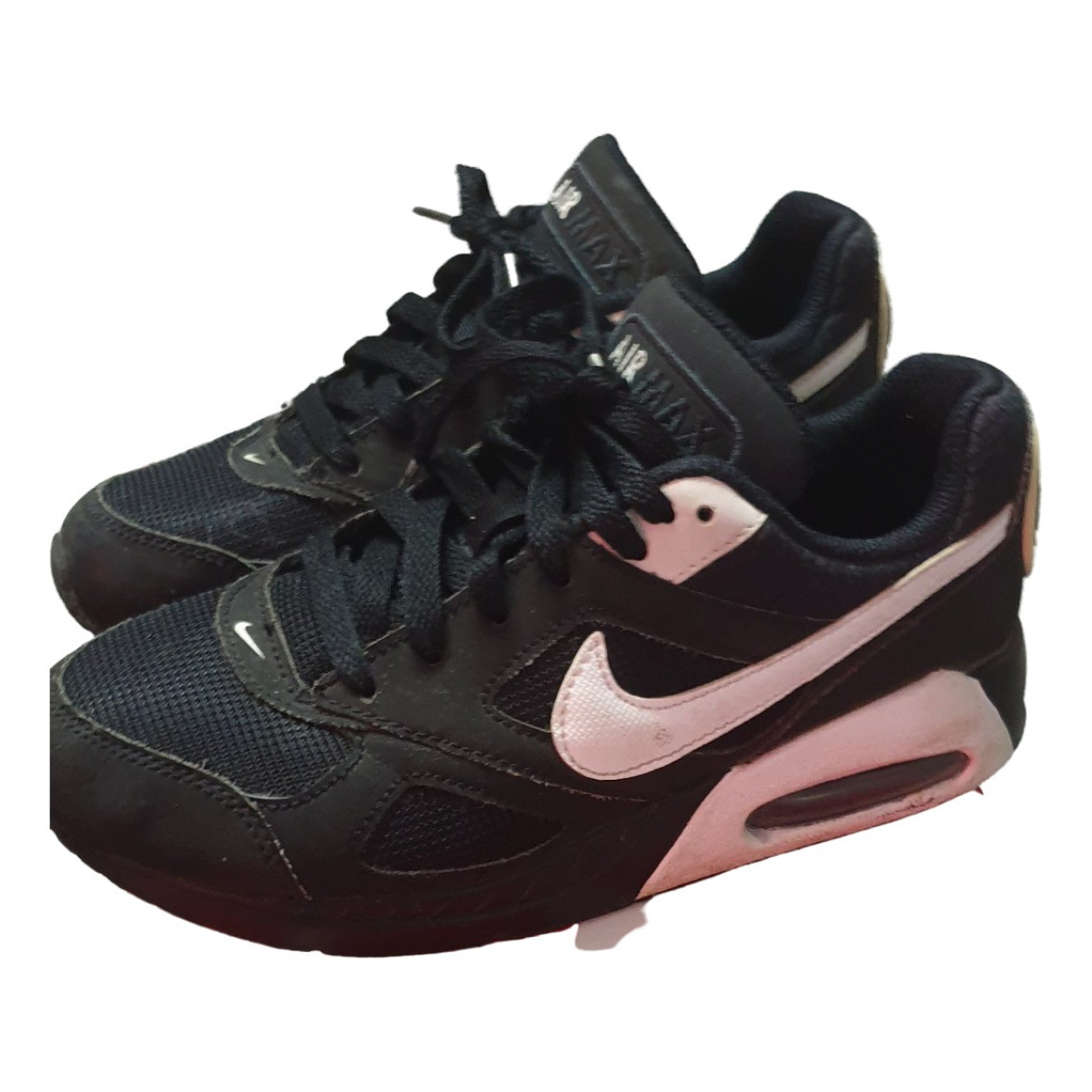 Nike Air Max  Black Leather Trainers for Kids 4.5 US