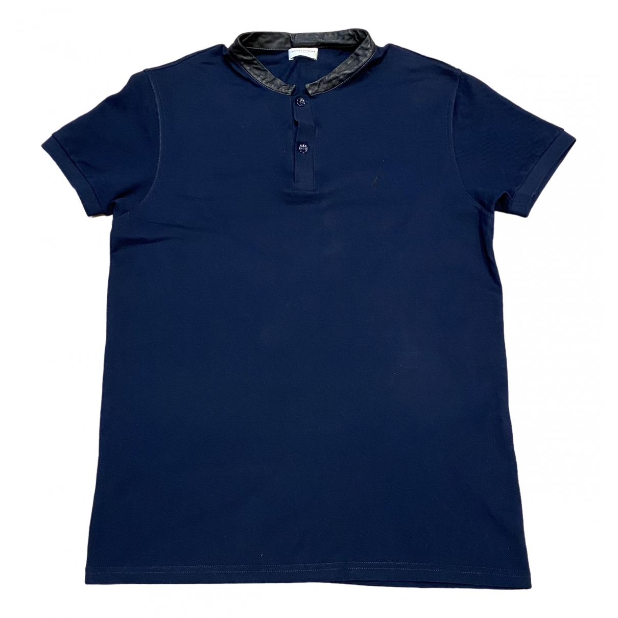 Saint Laurent \N Navy Cotton Polo shirts for Men M International