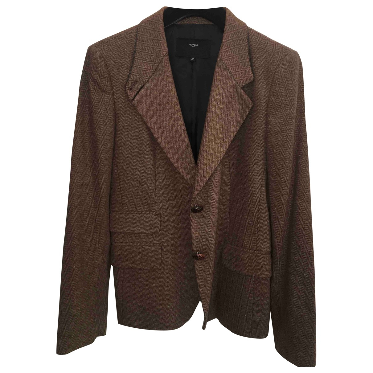 Et Vous \N Camel Wool jacket for Women 40 FR
