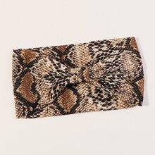 Snakeskin Pattern Wide Headband