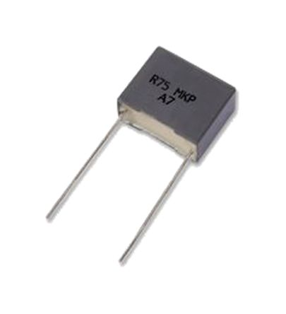 KEMET 1μF Polypropylene Capacitor PP 250 V ac, 630 V dc ±5% Tolerance Through Hole R75 Series (5)