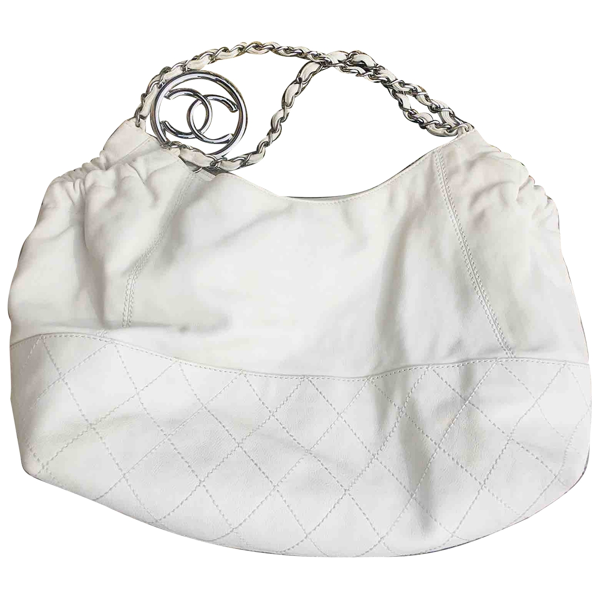 Chanel Coco Cabas White Leather handbag for Women \N