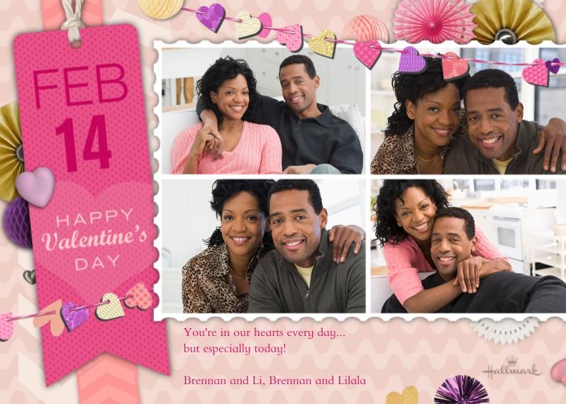 Valentines Cards 5x7 Folded Cards, Standard Cardstock 85lb, Card & Stationery -Valentine Scrapbook