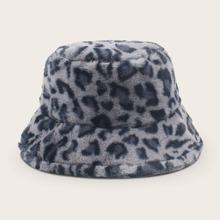 Sombrero cubo con patron de leopardo