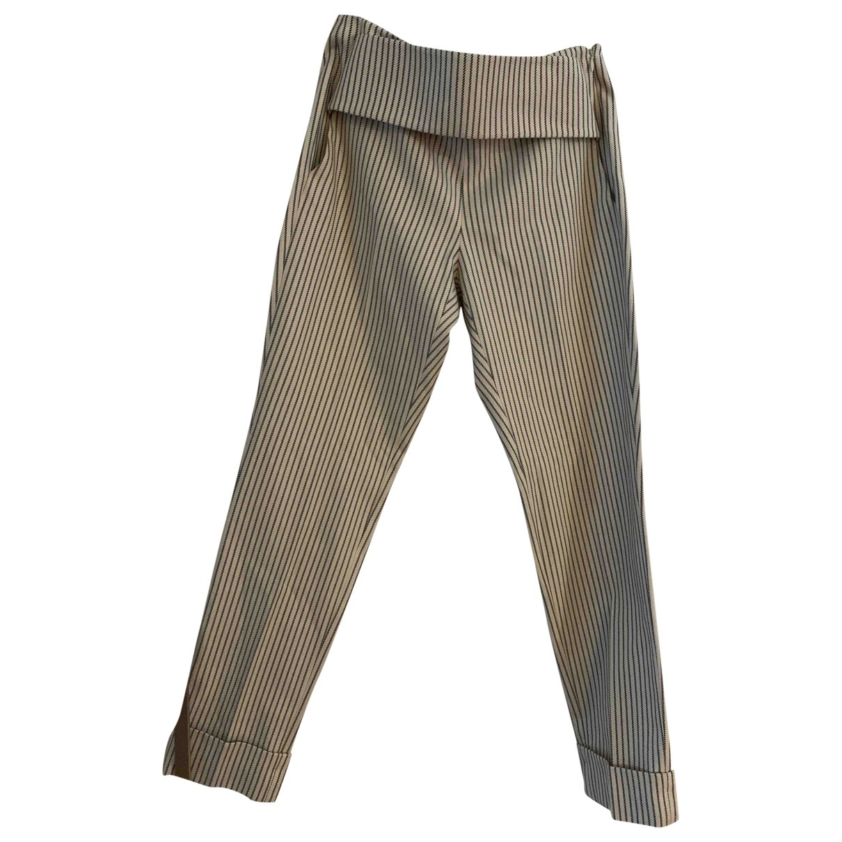 Givenchy \N Beige Wool Trousers for Women 38 FR
