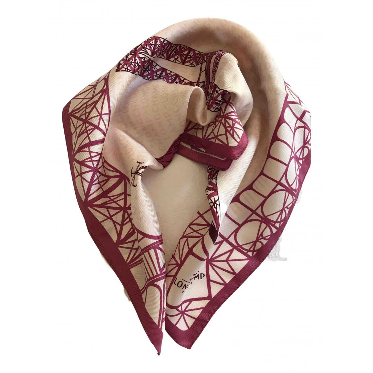 Longchamp - Carre   pour femme en soie - rose