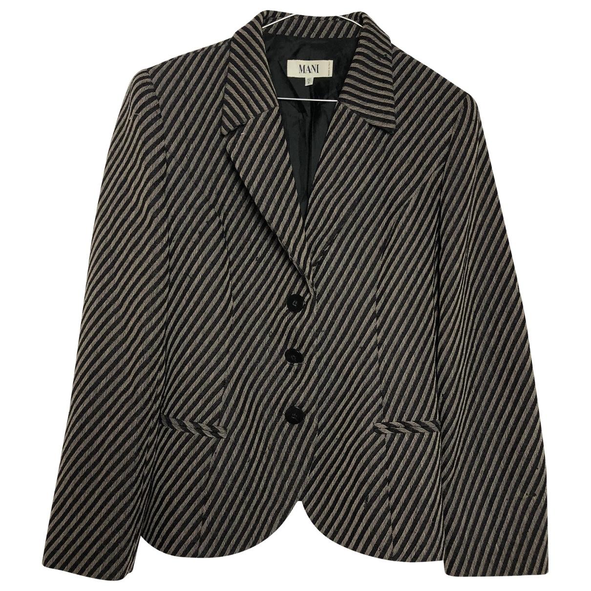 Armani Collezioni \N Black Cotton jacket for Women 40 IT