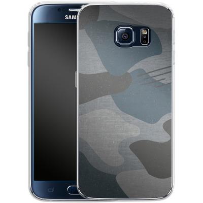 Samsung Galaxy S6 Silikon Handyhuelle - Marine Camo von caseable Designs