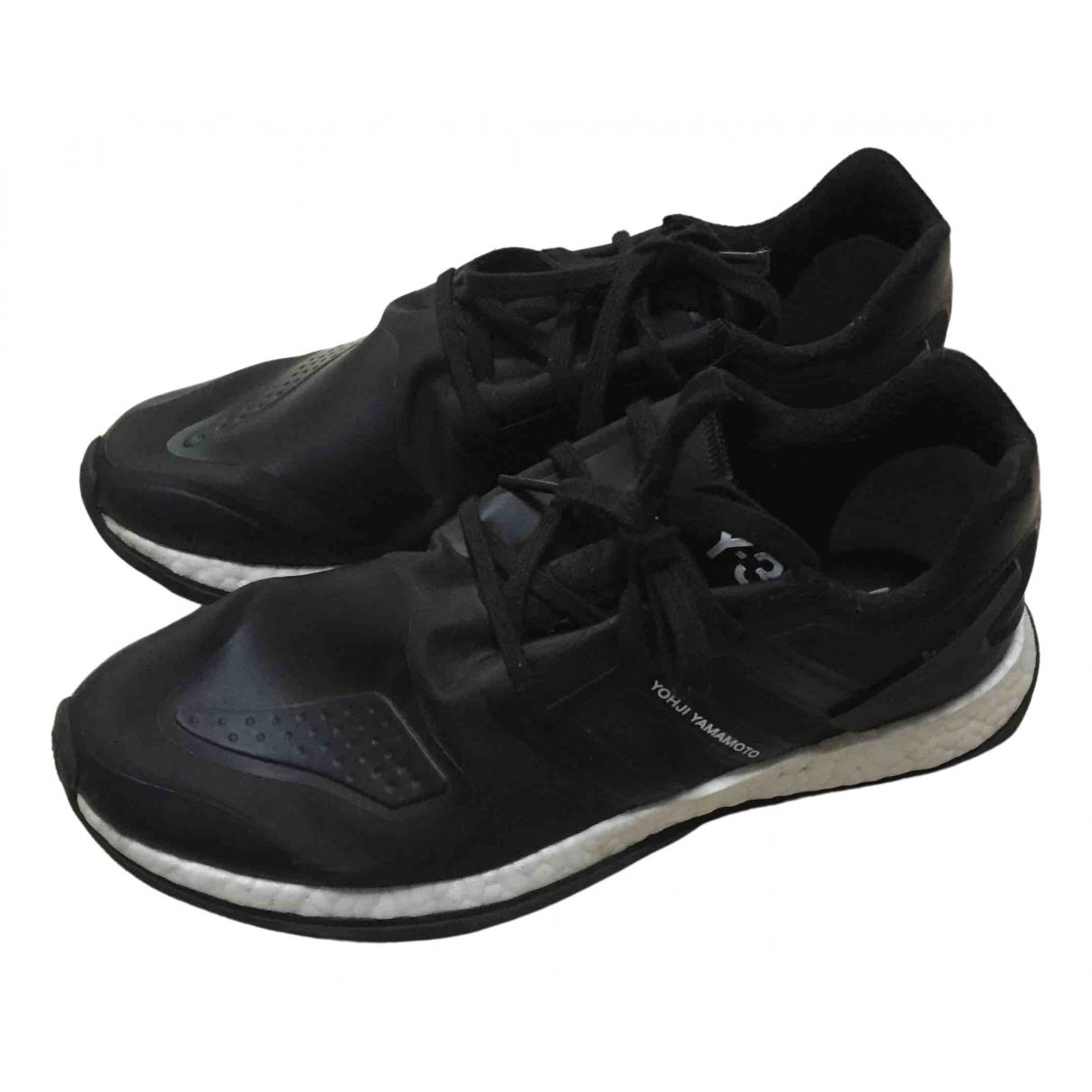 Y-3 By Yohji Yamamoto - Baskets   pour homme en caoutchouc - noir