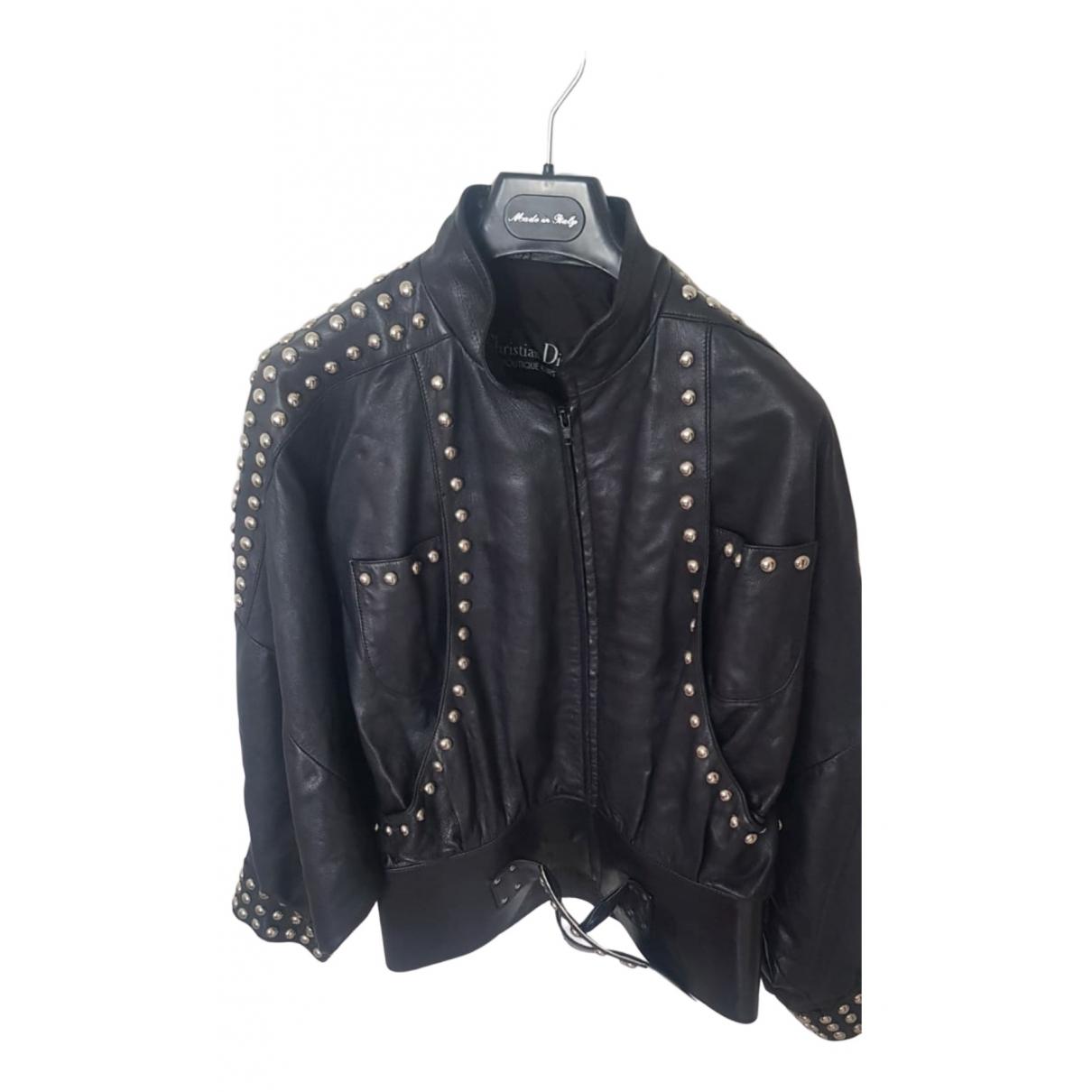 Dior \N Lederjacke in  Schwarz Leder